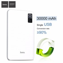 HOCO B24 30000mAh Power Bank Portable Charger With Display Triple USB Mobile Phone External Battery For iPhone Xiaomi Powerbank(China)