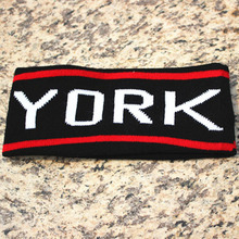 Women Casual New York Pattern Headband Wide Knit Wool Stretch Hair Band 6 Colors