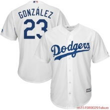 MLB Men's Los Angeles Dodgers Adrian Gonzalez Baseball Home White Official Cool Base Replica Player Jersey(China)