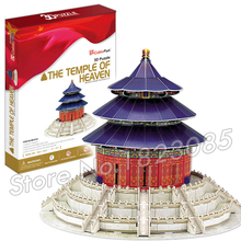 111PCS The temple of Heaven 2016 New 3D Puzzle DIY Jigsaw Assembly Model Building Set Architecture Creative gift Kids Toys(China)
