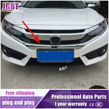 JGRT for Civic 2016 2017 model ABS Racing Grills decoration cover trim 1 pcs(China)