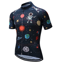 2017 Men's Cycling Jersey bicycle shirts Alien astronaut sportswear ropa ciclismo jersey mtb bike breathable shirt clothing