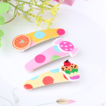 1PC New Children Hair Accessories Candy Color Hairpins BB Clip Headpiece Fruit Pattern Girls Hair Ornament Baby Barrettes