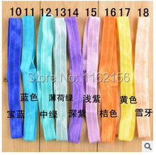 32pcs/lot 22color alternative Shimmery Stretchy FOE headbands Interchangeable hair band Hair Accessories free shipping xf62(China)