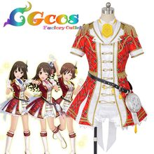 CGCOS Free Shipping Cosplay Costume The Idolmaster Cinderella Girls Mio Honda Uniform New in Stock Halloween Christmas Party