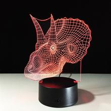 Dragon Head New 3D Table Lamp Creative Acrylic LED Night Light Colorful Atmosphere Decoration Table Lamp For Children