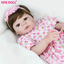 NPKDOLL Doll Brands 55cm Silicone Reborn Dolls Lifestyle Soft Bjd Princess Doll Reborn Toys For Girls Bebe Reborn(China)