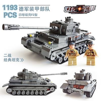 82010 1193pcs Century Military Tank Building Blocks Compatible With lego gift kid DIY Block Century Military PZKPFW-II Tank Toy<br>
