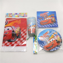 61pcs Cars Tablecloth Glass Kids Favors Cups Decoration Paper Plates Napkins Baby Shower Dishes Birthday Party Straws Supplies