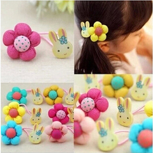 2015 New Arrival styling tools Rabbit pumpkin flower headwear Hair ring accessories used by women young girl and children