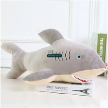 Dorimytrader 31'' / 80cm Giant Plush Animal Shark Toy Stuffed Soft Cartoon Sharks Doll Pillow Baby Gift Free Shipping DY61229