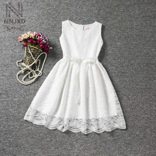 Vintage Infant Princess Lace White Wedding Dress Children Clothing Girl Birthday Outfits Teenage Girls Clothes Holiday Costume