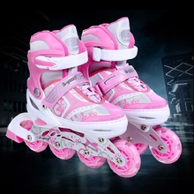 Buy L-pard 4wheels roller skates aluminum alloy heel button four yards adjustment children roller skating protective gear for $93.59 in AliExpress store