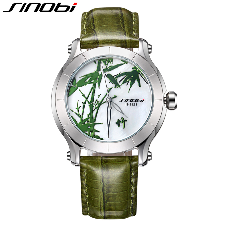 SINOBI Chinese Style Quartz Women Watches Plum, Orchid, Bamboo, Chrysanthemum, Special Dial Background Design   Relogios XFCS<br>
