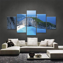Unframed 5 Pieces Beautiful Landscape Wall Art Oil Canvas Scenery Painting Printed Wall Pictures for Living Room Kids Room