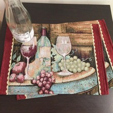 Hot table runner mats Embroidery tablecloth Decorative Decor home exquisite fruit wine dessert Harvest heat American printing XM