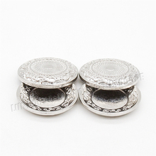 Odoria 1:12 Miniature 2PCS Fancy Pewter Dishes Trays with Lids Silver Plate Tray Tableware Dollhouse Kitchen Accessories