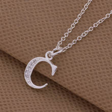 Top quality silver letter C - G Pendant & Necklace with zircon fashion wild style jewelry for women factory price