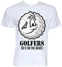 MENS FUNNY NOVELTY JOKE GOLFER BALLS SLOGAN GOLFER GOLFING RUDE T-SHIRTS GIFTS O Neck T Shirt Short Sleeve Top Tee(China)