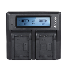 Andoer NP-FW50 NPFW50 Dual Channel LCD Digital Camera Battery Charger for Sony A7 A7R A7sII A7II A6500 A6300 A7RII NEX Series