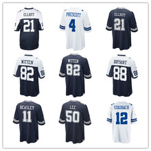 2017 Men's Ezekiel Elliott Jason Witten Dak Prescott Dez Bryant Cole Beasley Sean Lee Roger Staubach Custom Cowboys Game Jersey(China)