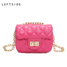 LEFTSIDE 2017 New Girls Baby Mini Quilted Bag Women Small Leather Chain Messenger Shoulder Bag Children Crossbody Bag Purse(China)