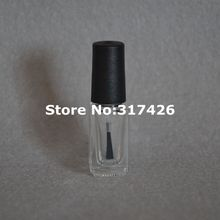 5ml Transparent Glass Nail Polish Bottle Makeup Tool Polish Empty Cosmetic Containers Nail Glass Bottle with Brush(China)