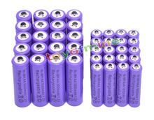 20 AA +20 AAA 1.2V 1800mAh 3000mAh NiMH Purple Rechargeable Battery Cell
