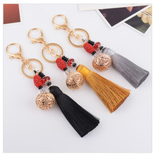 Chinese Vintage Court Style Little Bell Tassel Element Boutique Keychain Pendant For Bag Handbag Charms Ornament Accessory(China)