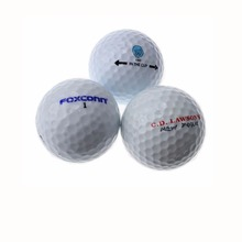 OEM Custom Logo two layer Tournament Golf Ball Two Piece Golf Match Ball size 42.67 mm(China)