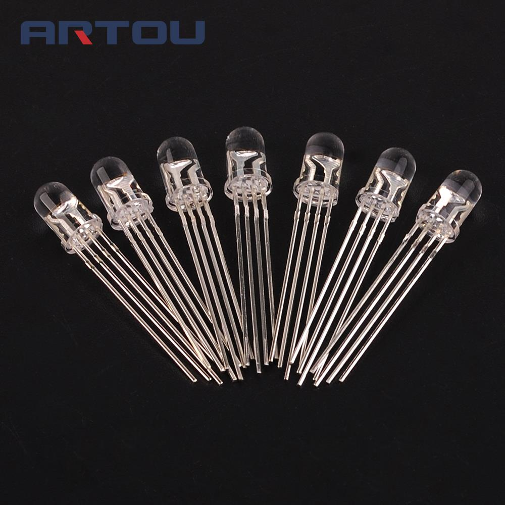 Responsible 50pcs Multicolor 4pin 5mm Rgb Led Diode Light Lamp Diffused Tricolor Round Common Anode Led 5 Mm Light Emitting Diode Back To Search Resultselectronic Components & Supplies Active Components