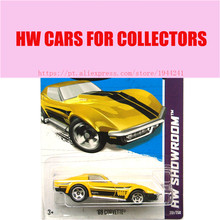 2013 New Hot 1:64 Cars wheels golden 69 corvette car Models Metal Diecast Car Collection Kids Toys Vehicle  Juguetes