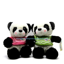 China Giant Panda Bear Soft Plush Toys Cute Cartoon Stuffed Animal Toy 30cm  Doll Chinese Gift For Children Baby Girl