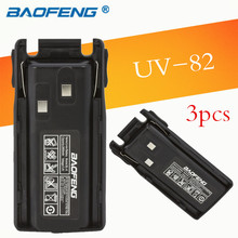 Best 3pcs Portable Radio Walkie Talkie Original 7.4V 2800mah Baofeng Battery for Baofeng UV-82 Accessories Baofeng UV 82 Battery