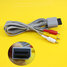 1.8m Audio Video AV Composite 3 RCA Cable for sharpest video for Nintendo Wii console(China)