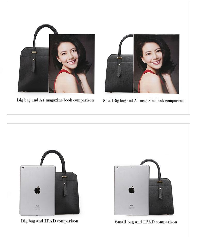 Famous luxury Brands Women Genuine Leather Bag Ladies Tote Embossed leather Boston handbags 2017 Fashion Female Versatile Bag H51340227 (7)