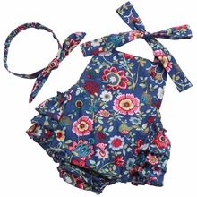 Newborn baby rompers One Pieces Jumpsuits Roupas De Bebe Infantil toddler girl rompers floral romper girls baby polo #7E2042(China)