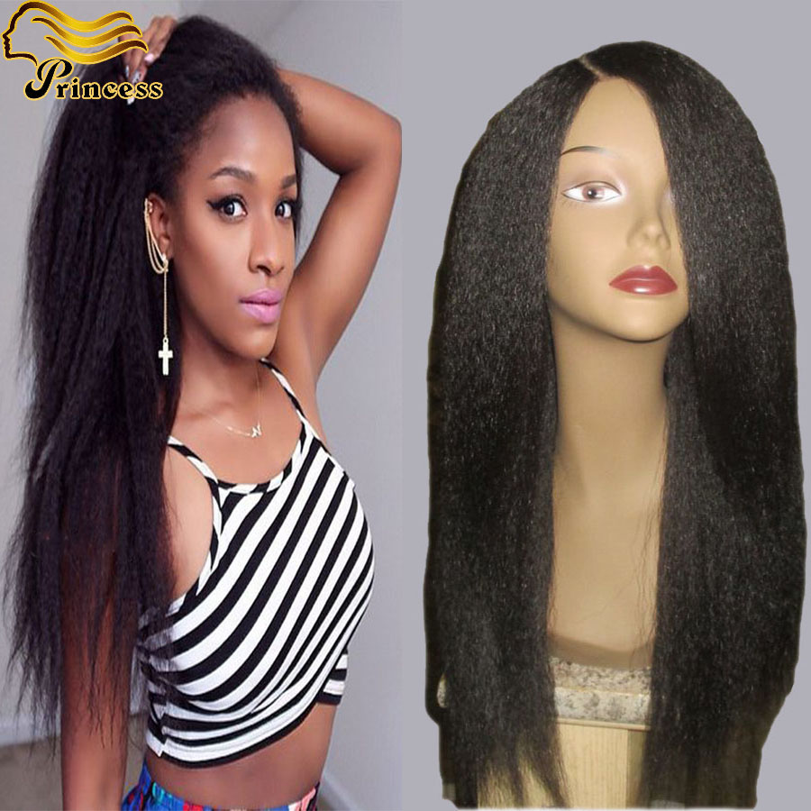 Brazilian Virgin Hair Full Lace Human Hair Wigs For Black Woman Kinky Straight Lace Front Human Hair Wigs Glueless Full Lace Wig<br><br>Aliexpress