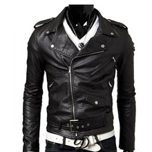 Spring Autumn 2017 New Brand Male Faux Leather Jacket Man Motorcycle Bomber Biker Mens Leather Jackets And Coats 50820012A