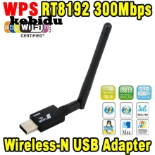 kebidu 300mbps Mini Wireless USB Wifi Adapter Lan Card 802.11n/g/b Wlan PC Wifi Receiver External Wifi Dongle Antenna WiFi