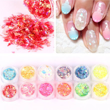 New Nail Art Paper Decorations 5g Japan Shell Paper Stickers 12 Candy Color Manicure DIY Accessoires Nails Beauty 2017 Hot(China)