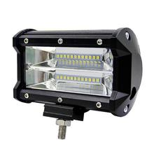5inch 72W 2-Row Work Light Bar 6000K Flood Lamp Marine LED lighting for Jeeps Off-road SUVs Boats car accessaries(China)