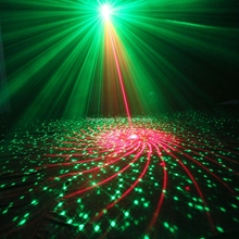 ESHINY Mini R&G 48 Patterns Laser Projector Blue Led Gobo Remote DJ lighting Disco Xmas Dance Party Stage Light Show N75L48