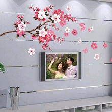 plum blossom sitting room adornment inside the bedroom of children room sofa TV setting can remove