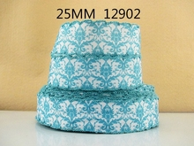 (5yds per roll) 25mm or 28mm Flowers Moontich ribbon high quality 5 yards,DIY handmade materials,wedding gift wrap,5Yc1325(China)