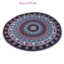 Round Beach Pool Home Shower 2016 New Arrival High Quality Hot Sale  Towel Blanket Table Cloth Yoga Mat Free Shipping Nov 24