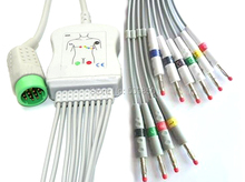 Compatible MEDTRONIC PHYSIO CONTROL Lifepak 12 EKG cable 10 lead ecg cable banana 4.0 lead on terminal