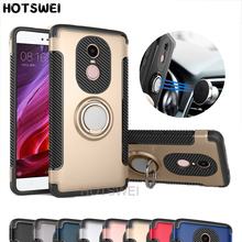 HOTSWEI Case For Xiaomi Redmi Note 4X Note 4 32gb Global Version Rubber PC TPU Finger Ring Stand Armor Double Layer Protective