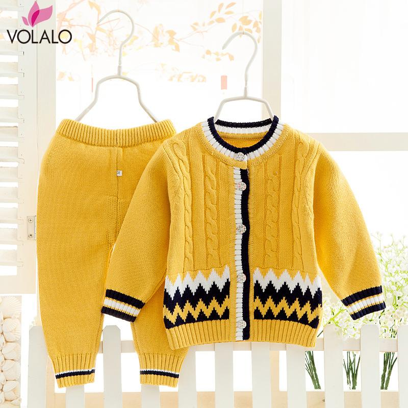 2016 Autumn baby suit infant clothing Sets Neonatal sweater baby clothing 100% Cotton Soft and thin sweater suits<br><br>Aliexpress