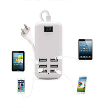 US Plug 4/6 Ports Multiple Wall USB Charger 25W 6A Smart Adapter Mobile Phone Charging Data Device ON/OFF Switch For iPhone/iPad(China)